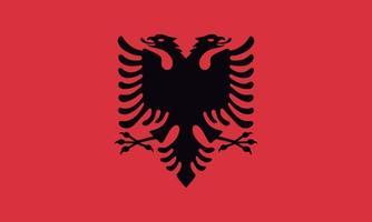vektorielle Darstellung der albanischen Flagge vektor