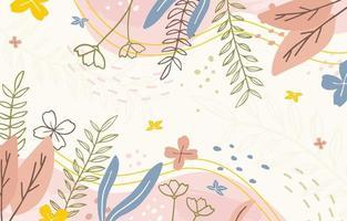 Hand gezeichneter Blumenhintergrund vektor