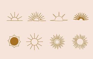 söt bakgrund för sociala medier med sol vektor