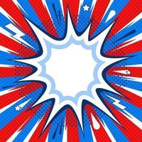 Comic-Sprechblase fester Hintergrund vektor