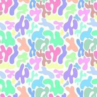 nahtloses abstraktes Muster von Flecken auf einem weißen Hintergrund. Textur von Flecken, Kreisen und Ovalen. abstrakter Stil, Design für Stoff, Textil, Papier vektor