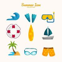 Sommer Strand Ikonensammlung vektor