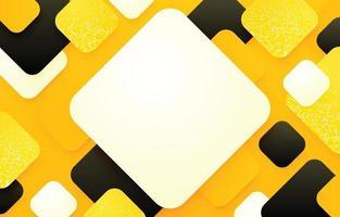 gelber abstrakter abgerundeter Rechteckhintergrund vektor