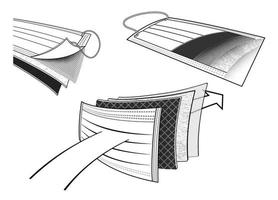 Design Schutzmaske Symbol vektor