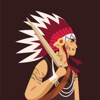 Ureinwohner vektor