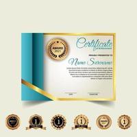 Diplom Zertifikat Vektor Vorlage