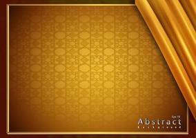 Papierschnitt Gold Hintergrund mit Textur 3d vektor