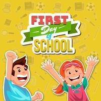 Erster Schultag vektor