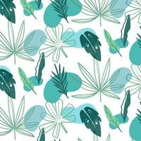 Sommer-Muster mit grünen Blättern vektor