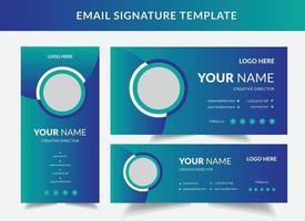 Mail-Signatur individuellen Text Web-Mailing-Schnittstelle individualisieren Signatur Formulare Vektor-Vorlage Illustration des Profilkontakts ui E-Mail-Benutzerkarte vektor