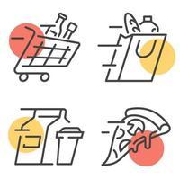 Lebensmittel-Lieferservice Vektor-Embleme vektor