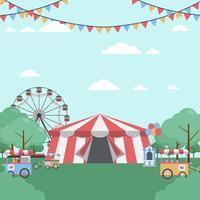 county fair vektor illustration