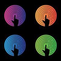 Touchscreen-Logo Bilder Illustration vektor