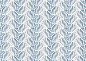nahtloses abstraktes Wellenmuster vektor