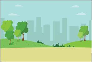 Landschaft mit Feld und Natur niedliche Vektorillustration vektor