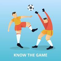 Plana fotbollsspelare vektor
