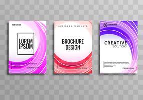 Elegant vågdesign broschyr mall design vektor