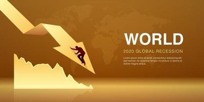 Welt globale Rezession Vektor-Illustration der Wirtschaftskrise vektor