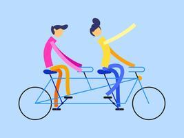 Einzigartige Tandem Bike Vektoren
