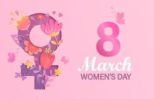 Banner für den internationalen Frauentag vektor
