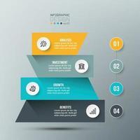 4-Schritt-Prozessablauf-Infografik-Vorlage vektor