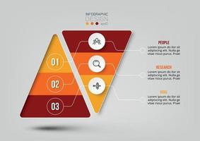 Infografik-Vorlage für den Geschäftsablauf der Pyramide vektor