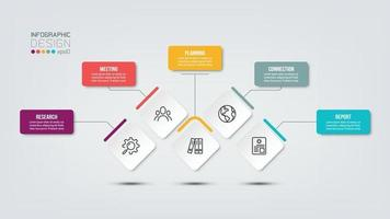 Infografik-Vorlage für Geschäfts- oder Marketingdiagramme vektor
