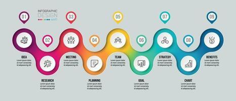 Infografik-Vorlage für das Zeitdiagrammgeschäft vektor