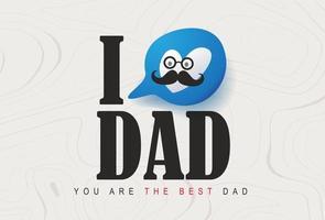 glücklicher Vatertagsgrußkartenhintergrund vektor
