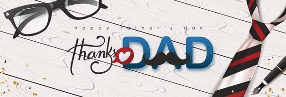 lycklig fäder dag gratulationskort bakgrund vektor