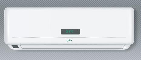 Klimaanlage System Kühl- und Heizblock der Klimaanlage für Haus oder Büro Klima elektronische Technologie Ausrüstung Vorlage realistische 3D-Illustration Vektor eps 10