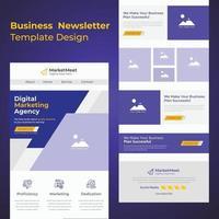 neueste kreative Mehrzweck Business B2B E-Mail Newsletter Vorlage Design für Unternehmen vektor