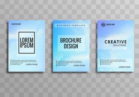 Abstrakt design broschyr mall set design vektor