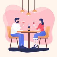 Människor som äter på restaurangvektor vektor