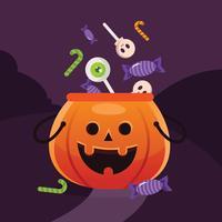 halloween godis vektor