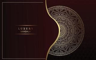 Luxus Gold Mandala verzierten Hintergrund Pro Vektor