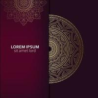 Luxus-Zier-Mandala-Hintergrund mit arabischem islamischem Ostmustermuster-Premium-Vektor-freiem Vektor