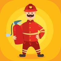 brandman karaktär vektor