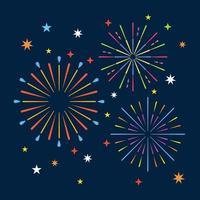 Feuerwerk im Nachthintergrund vektor