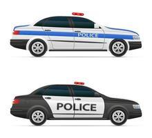 Polizeiwagen Fahrzeugvektorillustration lokalisiert auf weißem Hintergrund vektor