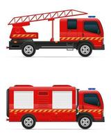 Feuerwehrauto Auto Fahrzeug Vektor-Illustration lokalisiert auf weißem Hintergrund vektor