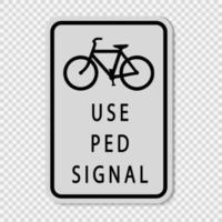 Fußgängersignalzeichen verwenden vektor