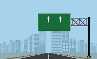 Straßenautobahnschilder grünes Brett vektor