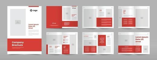 moderne rote Geschäftsbroschüre-Entwurfsschablone vektor