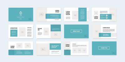 Powerpoint-Folienvorlage mit minimalem Stil vektor