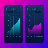 Mobilt UI-paket för uppgiftshanteraren på bakgrunden Flat Vector Illustration