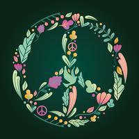 Friedenssymbol-Vektor-Design vektor