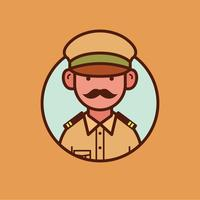 Indischer Polizist vektor