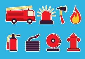 Feuerwehrmann Icon Set vektor