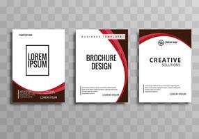 Abstrakt våg affärs broschyr mall set design vektor